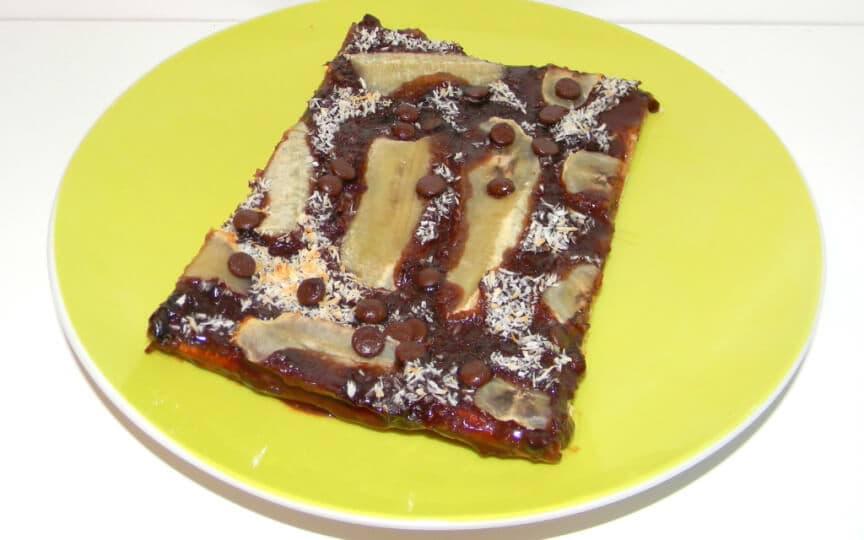 schokoladige Bananenpizza