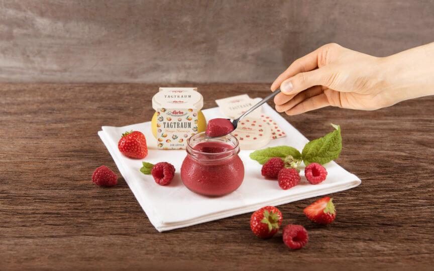Fruchtmousse Erdbeer Himbeere