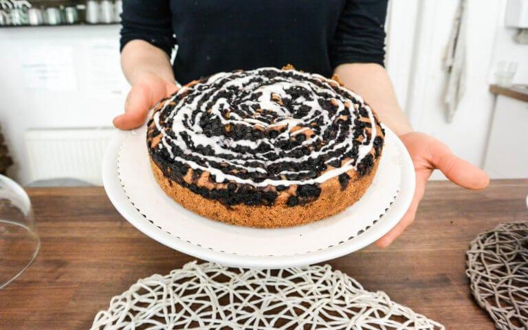 vegane Heidelbeer Torte
