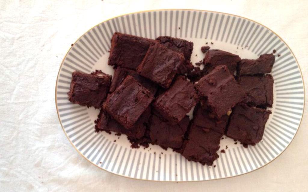 Schokoladen Brownie Aus Kichererbsen