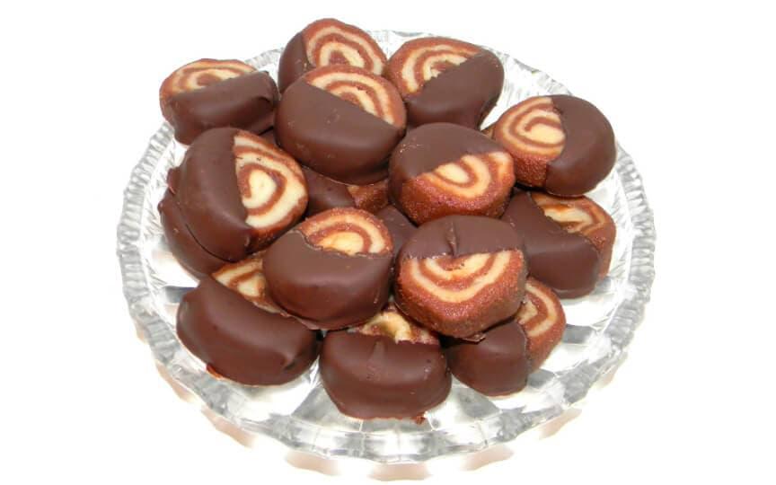 schokoladige Marzipanschnecken