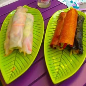 Rohkost-Wraps bei Fairy-Food