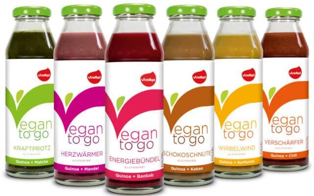 die neuen Vegan to go Saftmahlzeiten