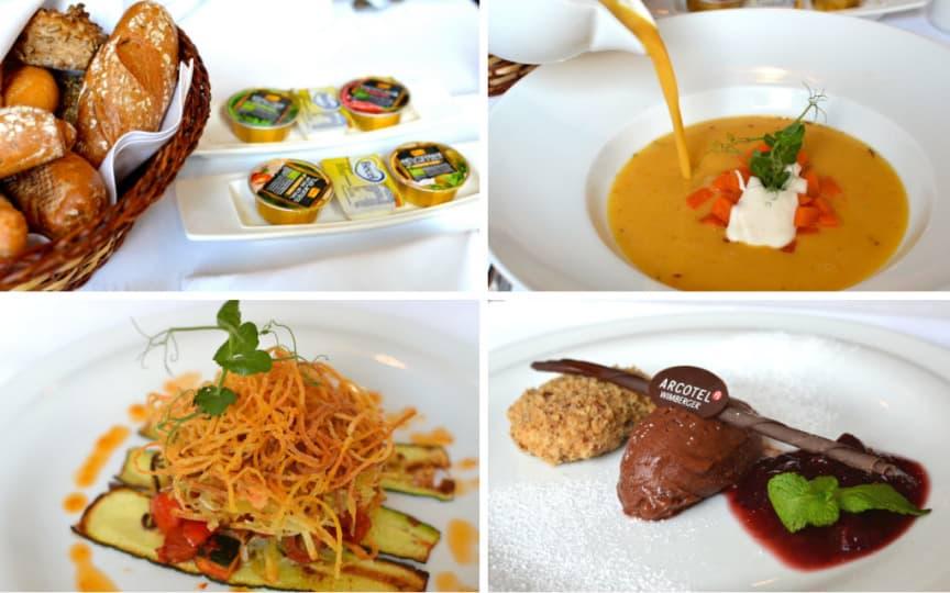 Veganes Menü im Arcotel
