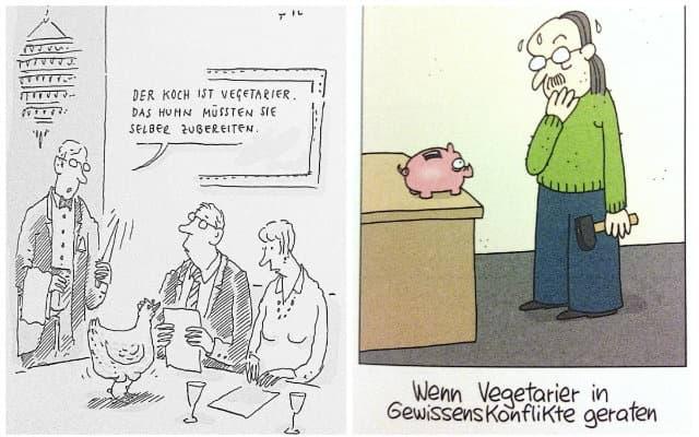 Vegane Cartoons - Auszug