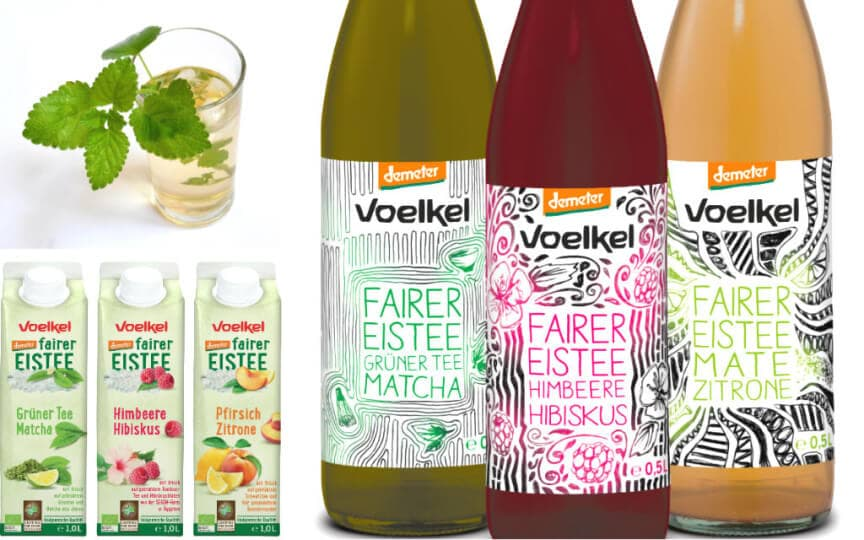 fairer Eistee von Voelkel