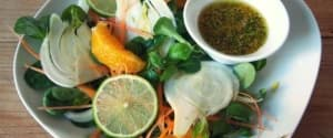Fröhlicher Zitrus-Fenchel-Feldsalat