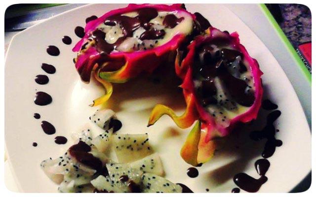 Drachenfrucht Dessert