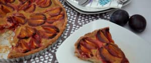 Glutenfreier Zwetschgenkuchen mit Pudding