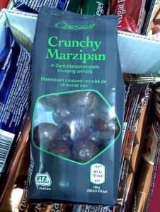 Crunchy Marzipan in Zartbitterschokolade
