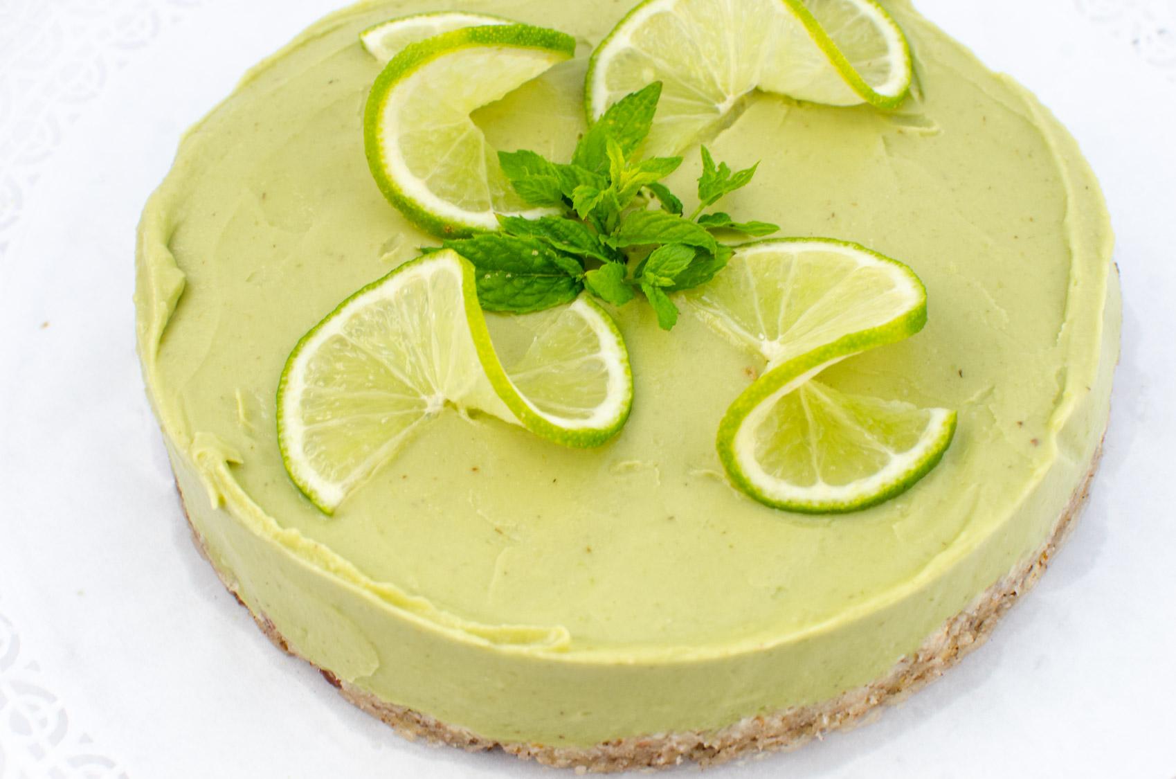 Erfrischender Rohkostlicher Limetten Kuchen Veganblatt