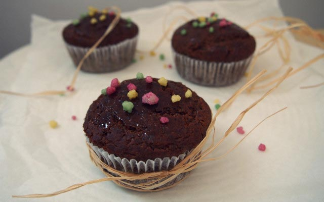 Mohn Aprikosen Muffins