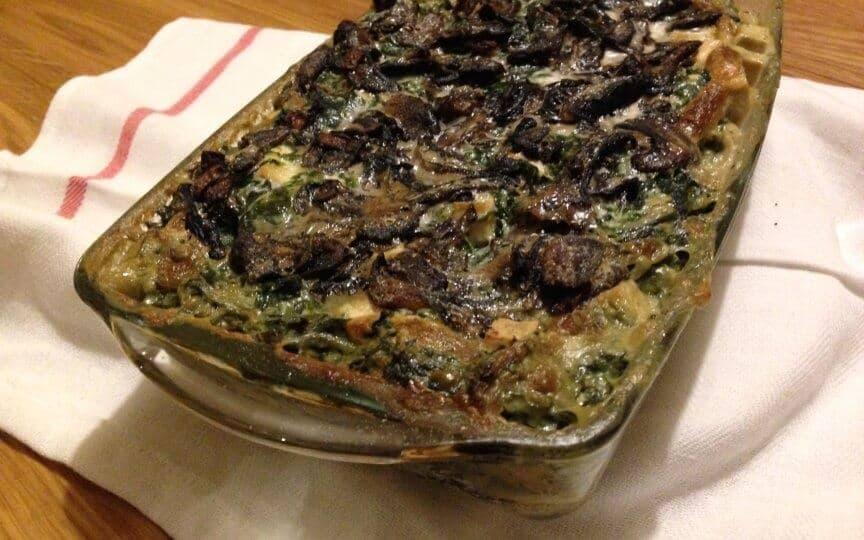 Spinat Pilz Lasagne