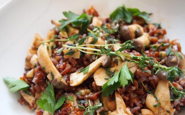 Rezept Camargue Reis mit Pilzen