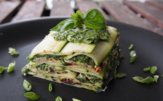 Rohe Lasagne