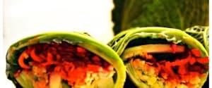 Regenbogen Wraps mit Falafel- und Gemüsefülle