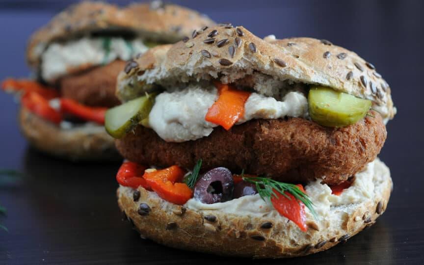 vegane Burger bauen
