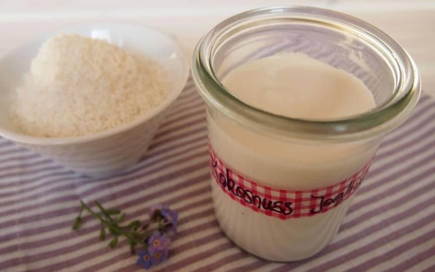 Sebelbstgemachtes Kokosnuss-Joghurt