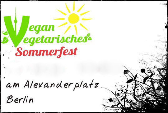 Vegan vegetarisches Sommerfest Berlin