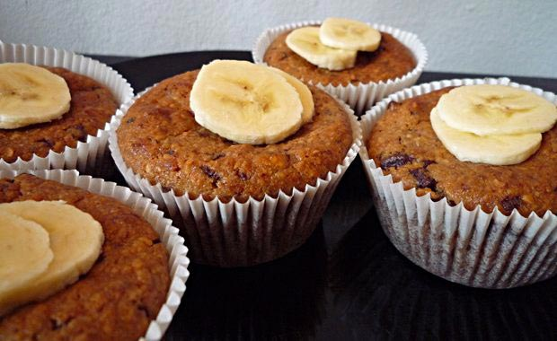 vegane bananen schokolade muffins veganblatt. Black Bedroom Furniture Sets. Home Design Ideas