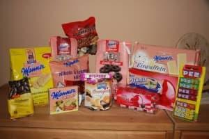 Vegane Ausbeute von Billa: Manner, Mon Cheri, Dinkelherzen, Casali Ashanti, Fizzers