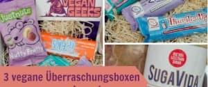 3 Überraschungsboxen von Vegangeeks.de zu gewinnen