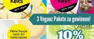 3 Pakete mit neuen Veganz Produkten zu gewinnen